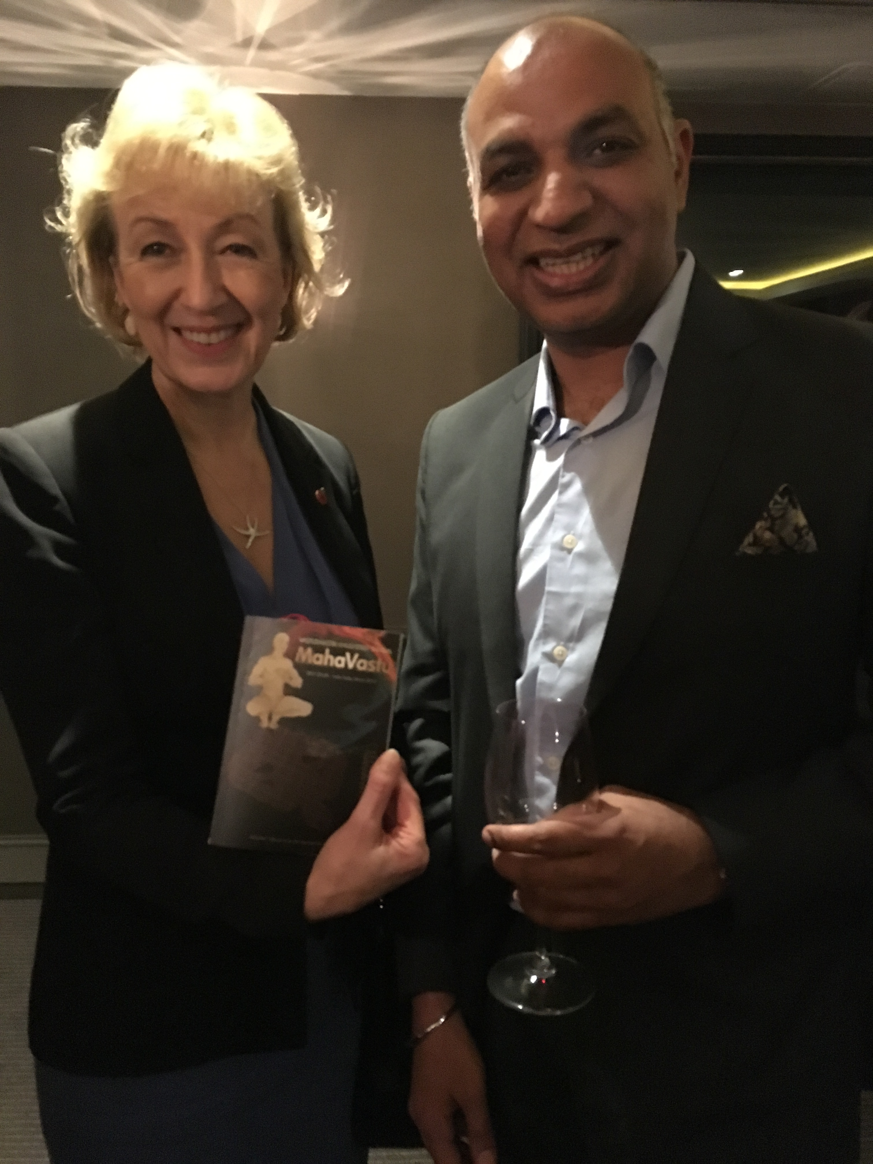 Satyan with The Rt Hon Andrea Leadsom